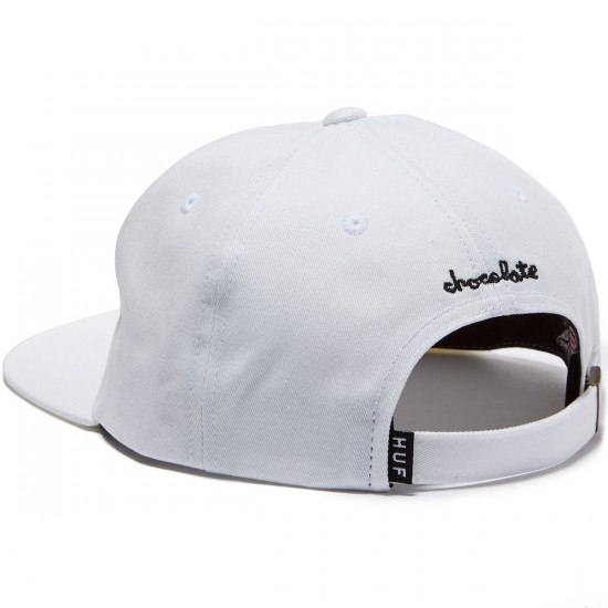 HUF X Chocolate LA Cop Car 6 Panel Hat - White