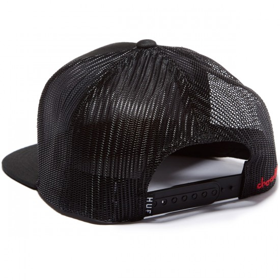 HUF X Chocolate Trucker Hat - Black