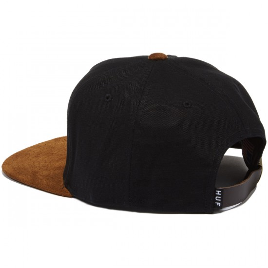 HUF Metal H Strapback Hat - Black