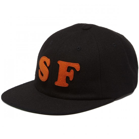 HUF City 6 Panel SF Hat - Black