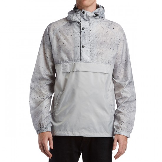 HUF Adapt Packable Anorak Jacket - Concrete Print/Grey
