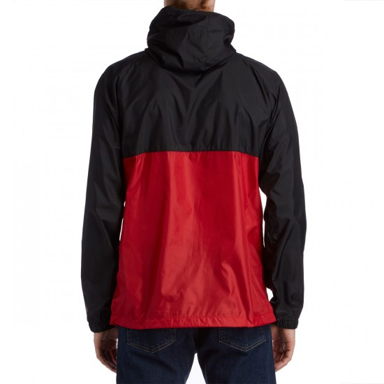 HUF X Chocolate Packable Anorak Jacket - Black/Red