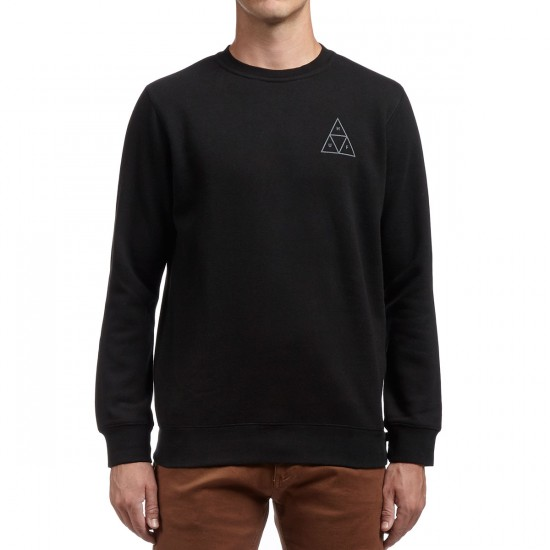HUF Triple Triangle Crewneck Fleece Sweatshirt - Black/Grey