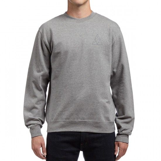 HUF Triple Triangle Crewneck Fleece Sweatshirt - Grey Heather