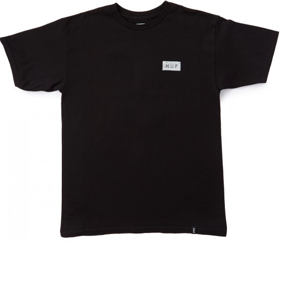 HUF Concrete Bar Logo T-Shirt - Black