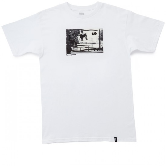HUF X Chocolate Keenan Switch Flip T-Shirt - White