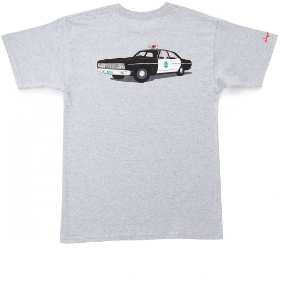 HUF X Chocolate SF Cop Car T-Shirt - Grey Heather