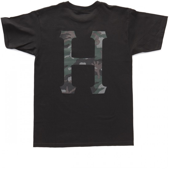 HUF Muted Military Classic H T-Shirt - Black