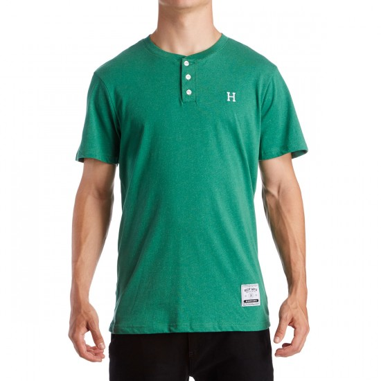 HUF Premium Heather Henley T-Shirt - Olive