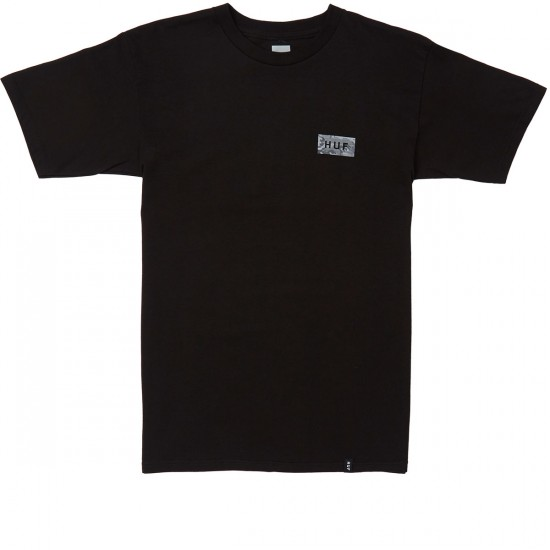 Huf Street Ops Bar Logo T-Shirt - Black