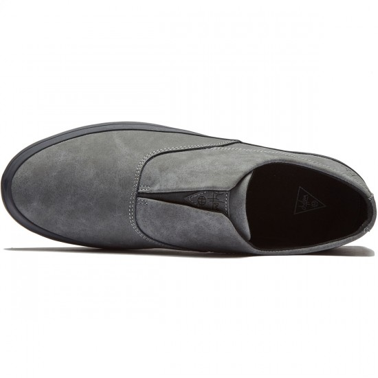 HUF Dylan Slip On Shoes - Steel/Asphalt - 8.5