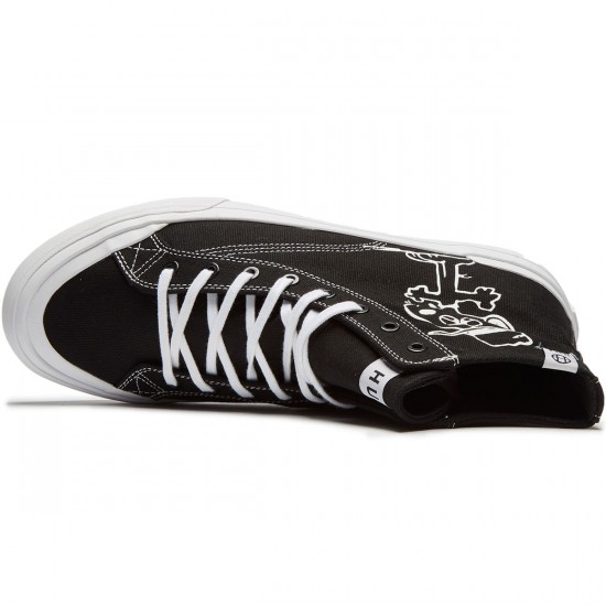 Huf X Peanuts Classic High Shoes - Black/White - 8.0