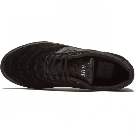 HUF Galaxy Shoes - Waxed Black - 8.0