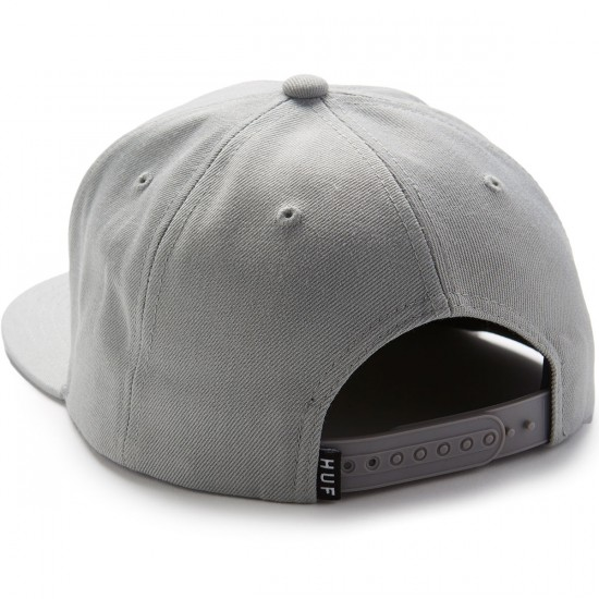 Huf Box Logo Snapback Hat - Grey
