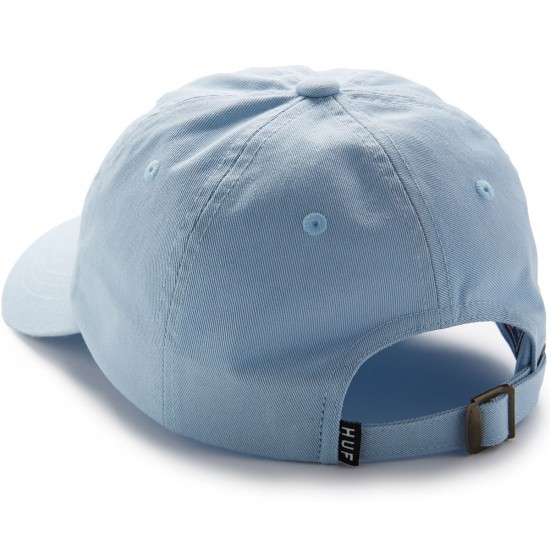 Huf Circle H Curve Visor 6 Panel Hat - Light Blue