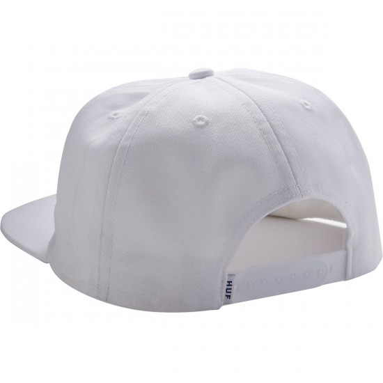 Huf Dimensions Snapback Hat - White