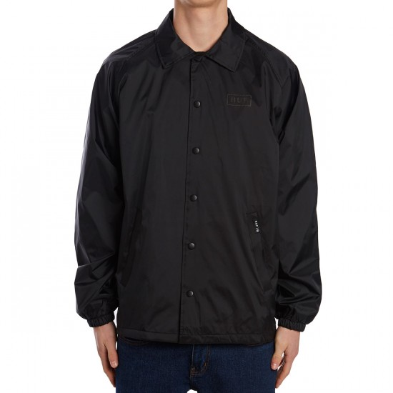 Huf Bar Logo Coach Jacket - Black