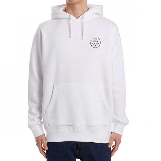 Huf Circle Triple Triangle Pullover Hoodie - White