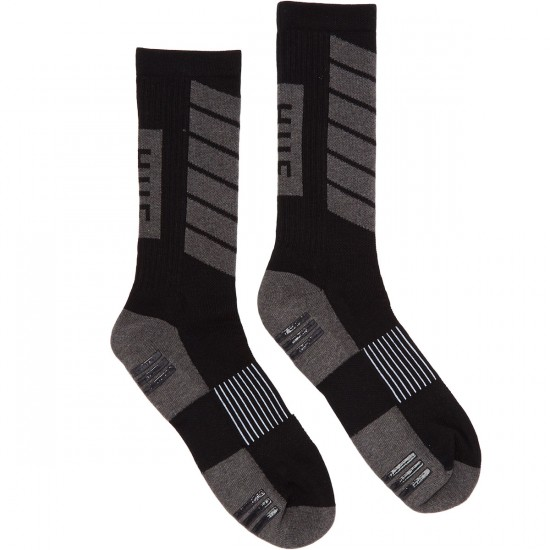 Huf Perfomance Plus Crew Socks - Black/Charcoal