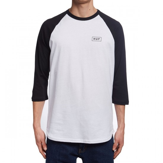 Huf Bar Logo Raglan Shirt - White/Black