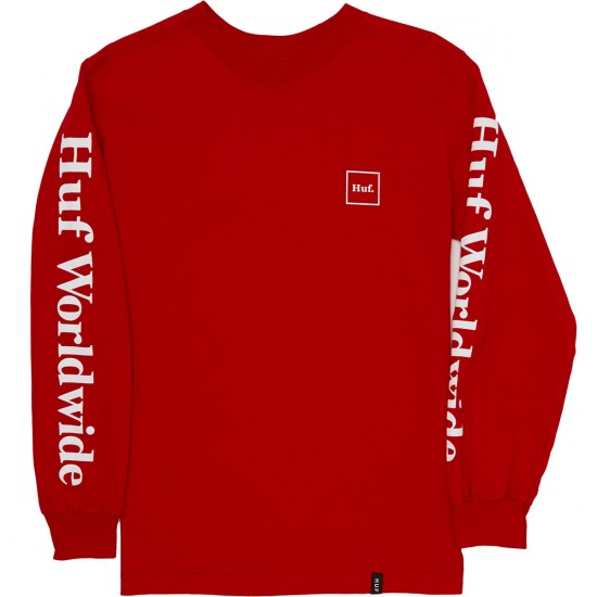 Huf Domestic Long Sleeve T-Shirt - Red