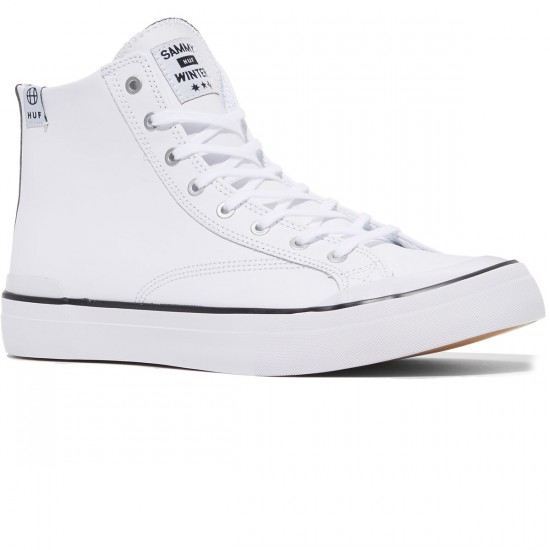 HUF Classic Hi Shoes - White Sammy Winters - 8.0