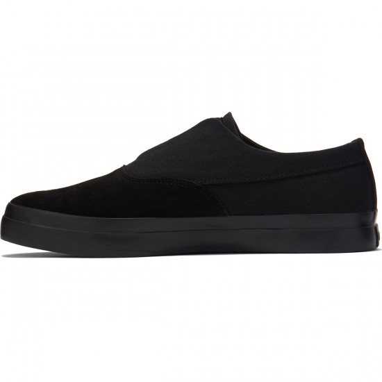 HUF Dylan Slip On Shoes - Black/Black - 8.0