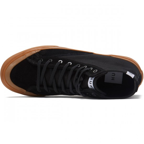 HUF Classic Hi ESS Shoes - Black/Gum - 8.0
