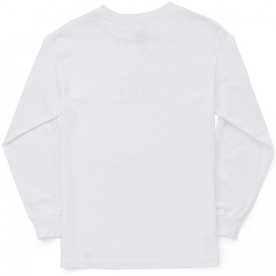 Huf Bar Logo Long Sleeve T-Shirt - White