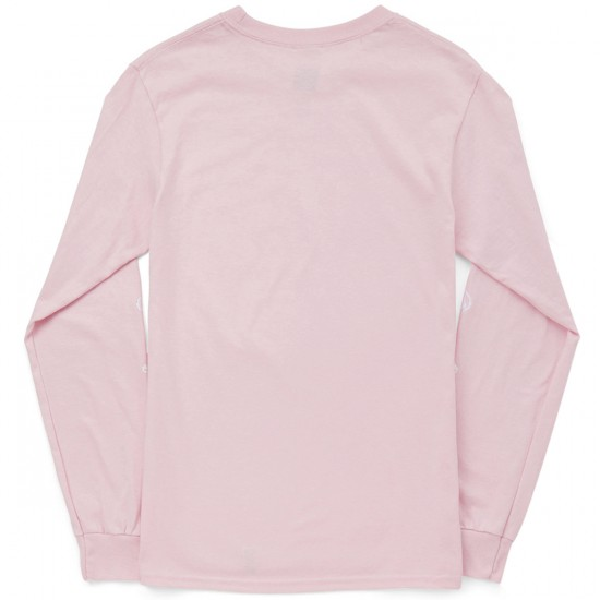 Huf Bear Long Sleeve T-Shirt - Pink