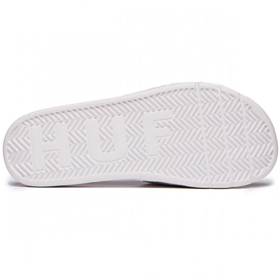 HUF Slide Shoes - White/Navy