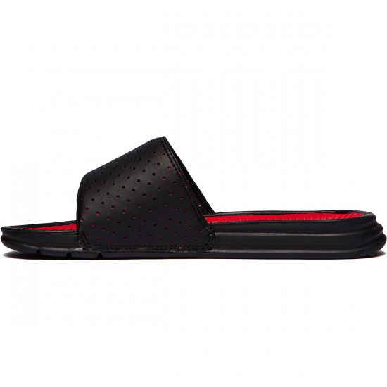 HUF Slide Shoes - Black/Red - 8.0