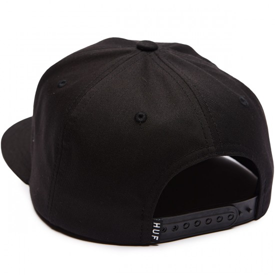 Huf Triple Triangle Snapback Hat - Black/Blue