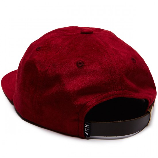 Huf Souvenir 6 Panel Hat - Burgundy