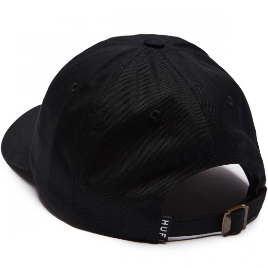 Huf Cocktail Hour Curved Visor 6 Panel Hat - Black