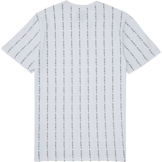 Huf Fuck It Pin Stripe T-Shirt - White