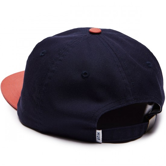 Huf Classic H 6 Panel Hat - Navy/Red