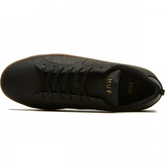 HUF Boyd Shoes - Black/Dark Gum - 8.0