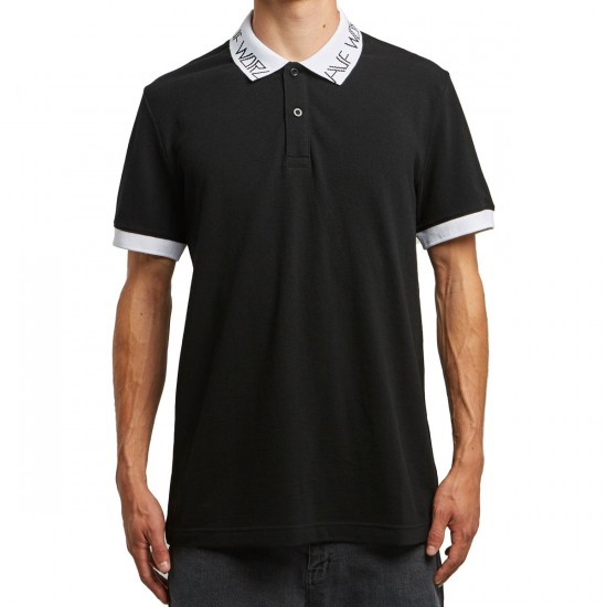 Huf Letras Polo Shirt - Black