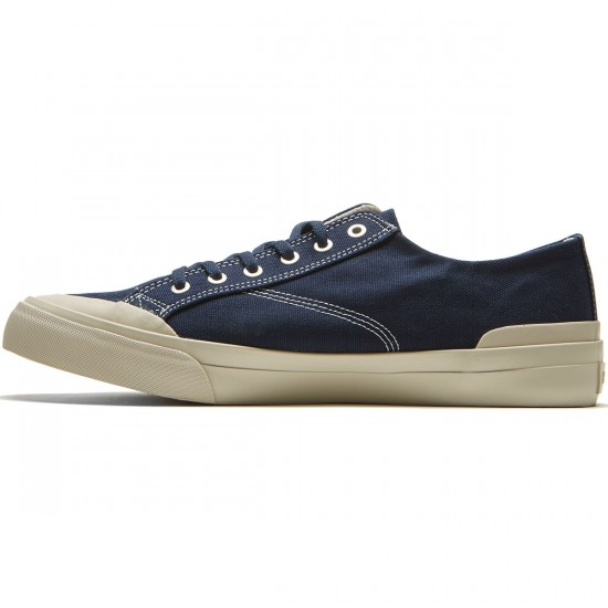 HUF Classic Lo Ess Tx Shoes - Navy/Cream - 8.0