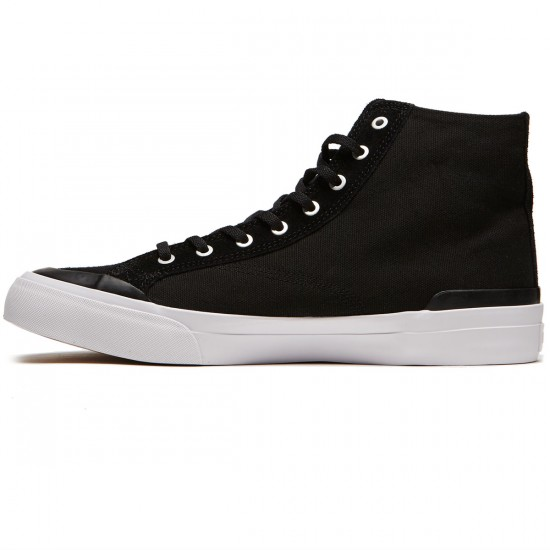 HUF Classic Hi ESS Shoes - Black/Black/White - 8.0
