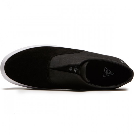 HUF Dylan Slip On Shoes - Black/Black/White - 8.0