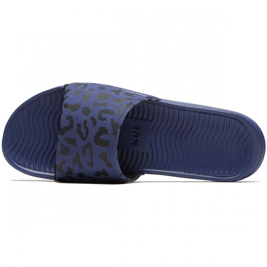HUF Slide Shoes - Blue Leopard