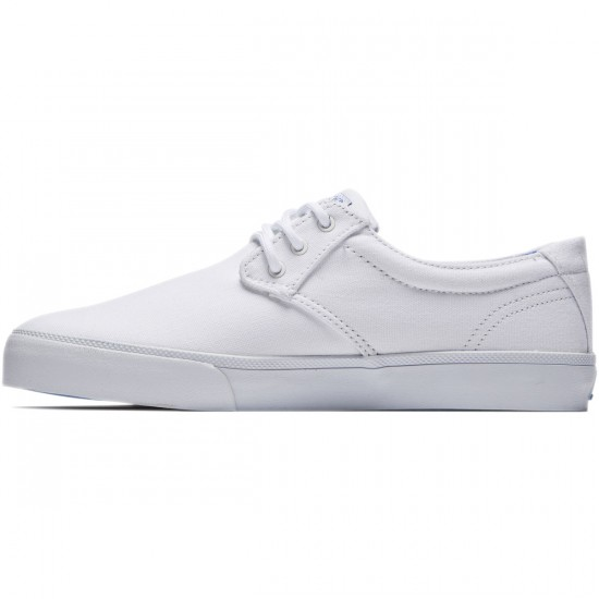 Lakai Daly Shoes - White Canvas - 8.0
