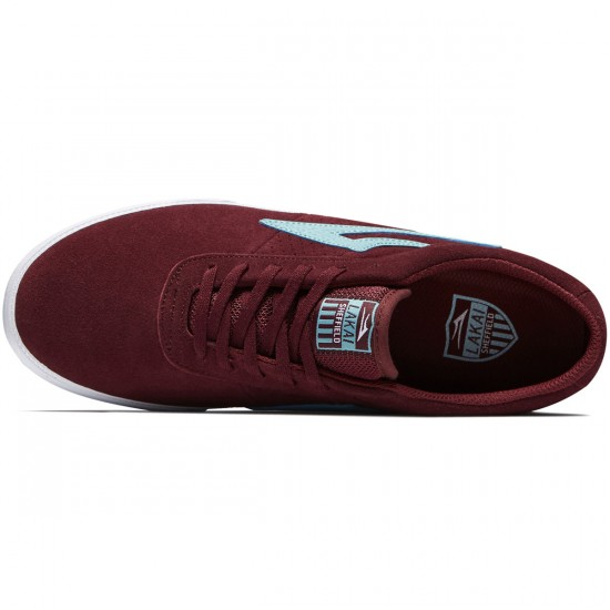 Lakai Sheffield Shoes - Burgundy Suede