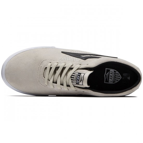 Lakai Sheffield Shoes - White/Black Suede