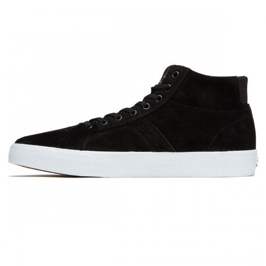 Lakai Flaco High Shoes - Black/Gold Suede - 8.0