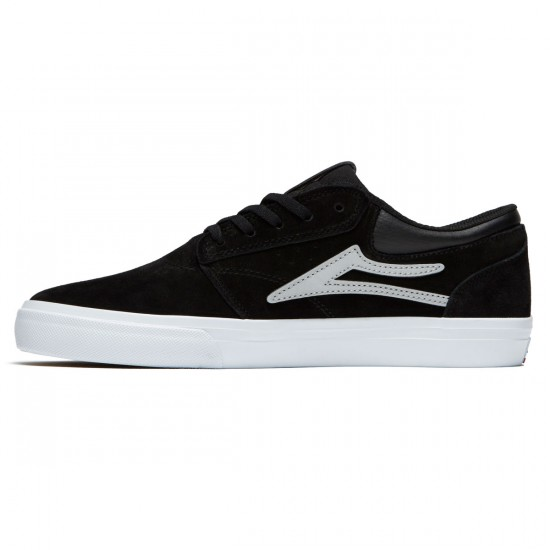 Lakai Griffin Shoes - Black/Reflective Suede - 8.0