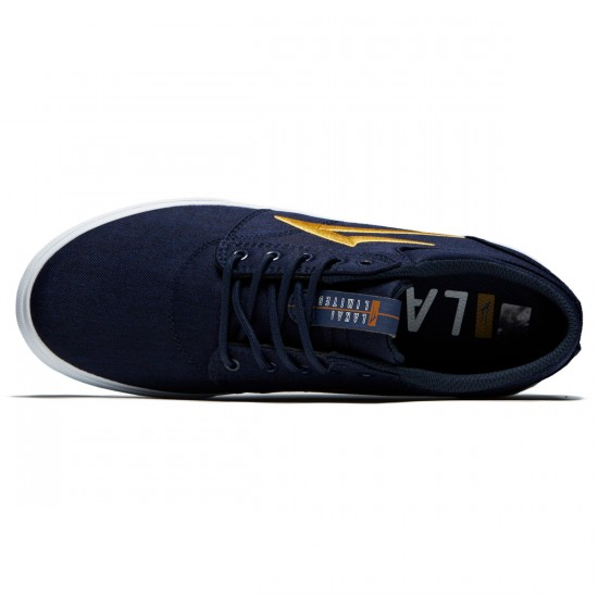 Lakai Griffin Shoes - Navy/Gold Textile - 8.0