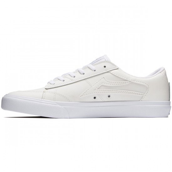 Lakai Ellis Shoes - White Leather - 8.0